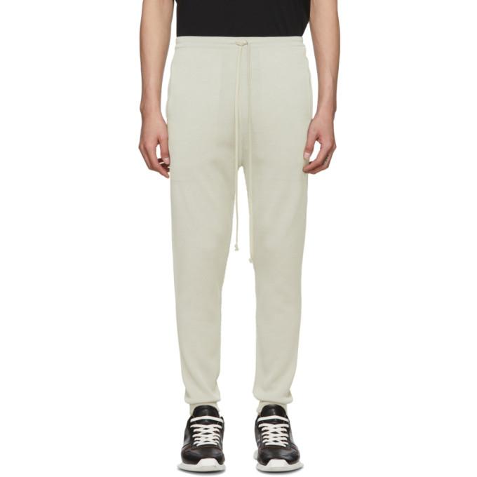 Rick Owens Pantalon de survetement gris Joggers