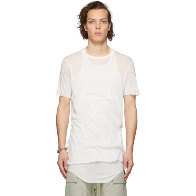 Rick Owens White Basic T-Shirt