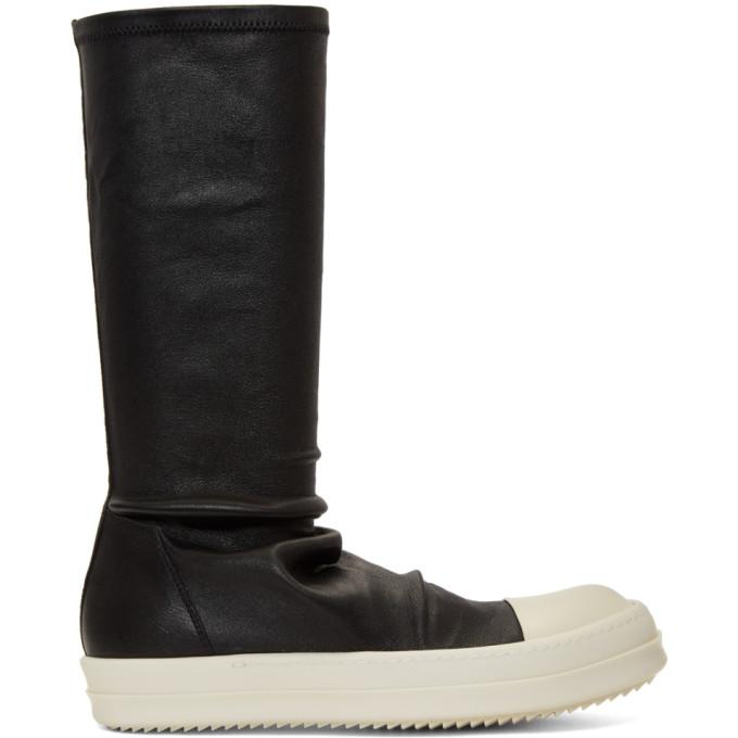 Rick Owens Black & White Sock Sneakers