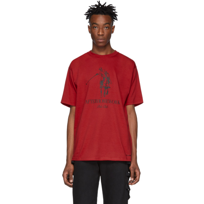 Afterhomework T-shirt rouge Polo Logo