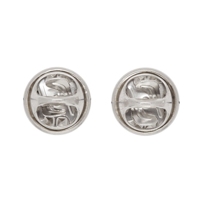 Justine Clenquet Silver Lola Stud Earrings