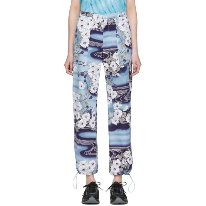 Collina Strada Pantalon bleu Garden Print Monk