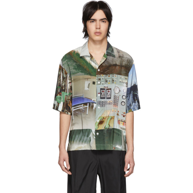 Serapis Chemise multicolore Workers Grid exclusive a SSENSE