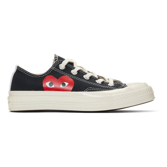 Comme des Garçons Play Black Converse Edition Half Heart Chuck 70 Sneakers