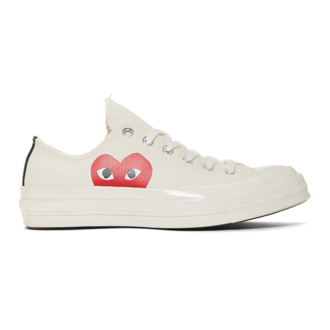 Comme des Garçons Play Off-White Converse Edition Half Heart Chuck 70 Sneakers