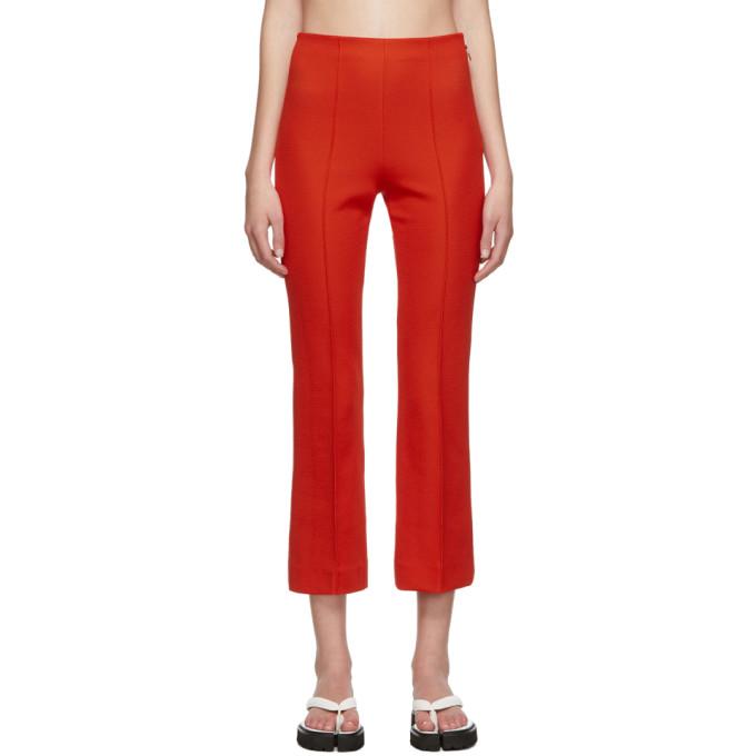 Rudi Gernreich Pantalon orange Ring Zipper