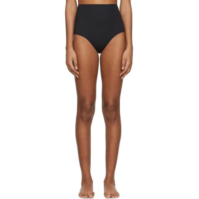 Rudi Gernreich Culotte de bikini a taille haute noire
