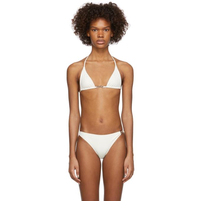 Rudi Gernreich Haut de bikini beige Buckle