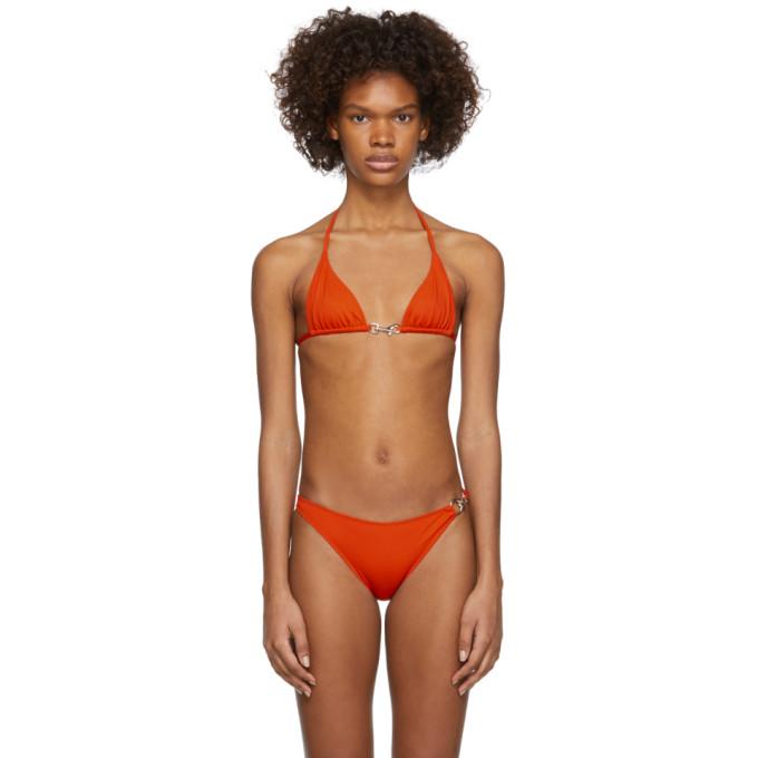 Rudi Gernreich Haut de bikini orange Buckle