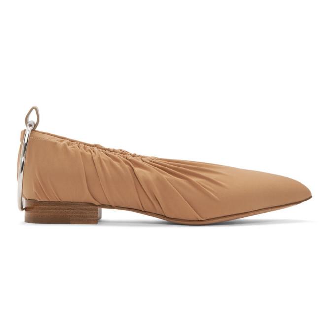 JIL SANDER | Jil Sander Beige Sock Anklet Ballerina Flats | Goxip
