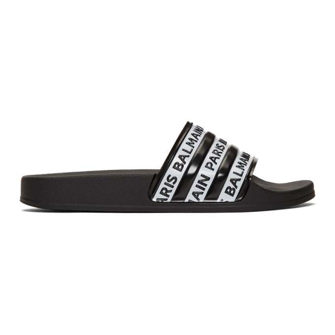 Balmain Black and White Logo Slides