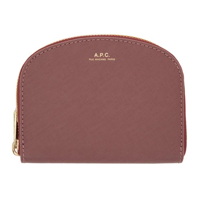 A.P.C. Pink Half Moon Compact Wallet