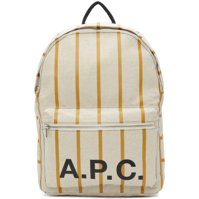 Image of A.P.C. Beige Construction Backpack