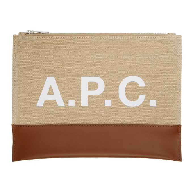 Image of A.P.C. Beige & Brown Axel Pouch
