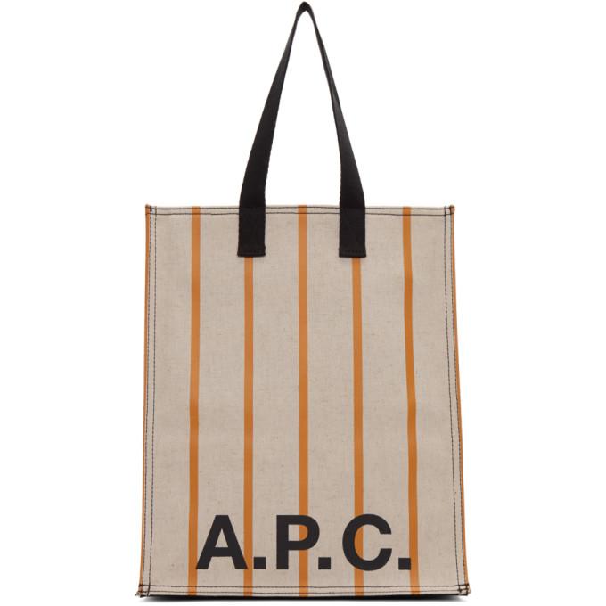 A.P.C. | A.P.C. Beige Construction Shopping Tote | Goxip