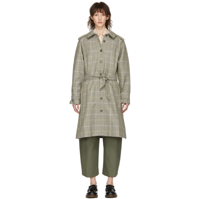 Image of A.P.C. Beige Ava Trench Coat