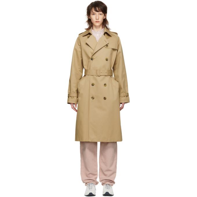Image of A.P.C. Beige Greta Trench Coat