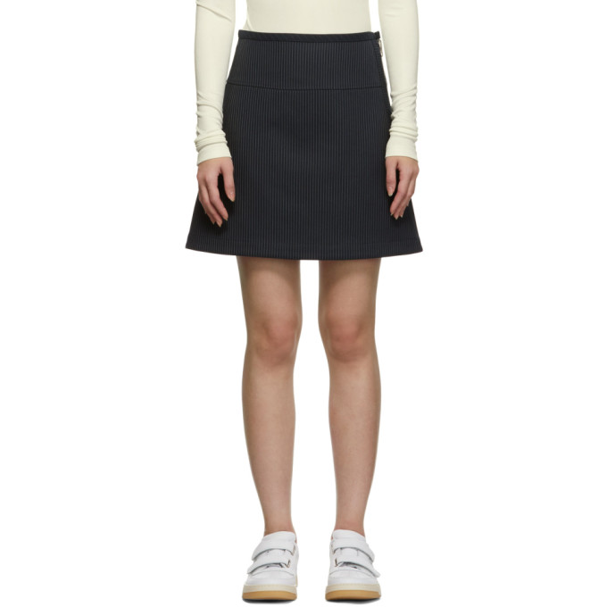 Image of A.P.C. Navy Wright Miniskirt