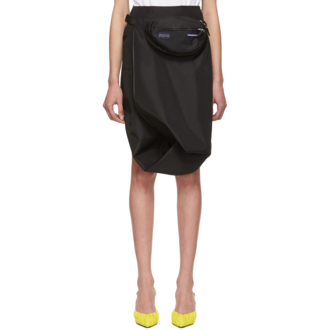 Pushbutton Skirts PUSHBUTTON BLACK AND GREY TWIST SKIRT