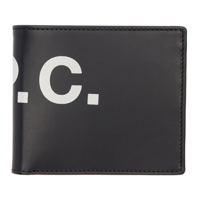 A.P.C. Navy Logo Aly Bifold wallet