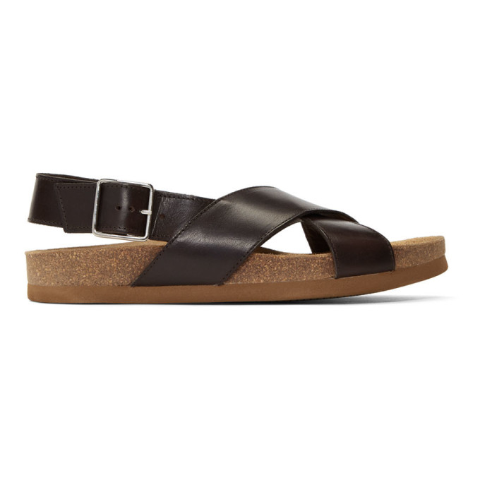 A.P.C. Black Marron Sandals