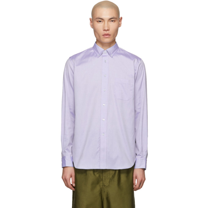 Junya Watanabe Chemise en coton oxford bleue edition Turnbull and Asser