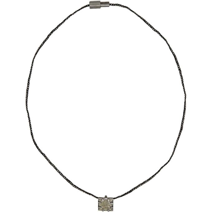 Lanvin Green & Black Mirror Necklace