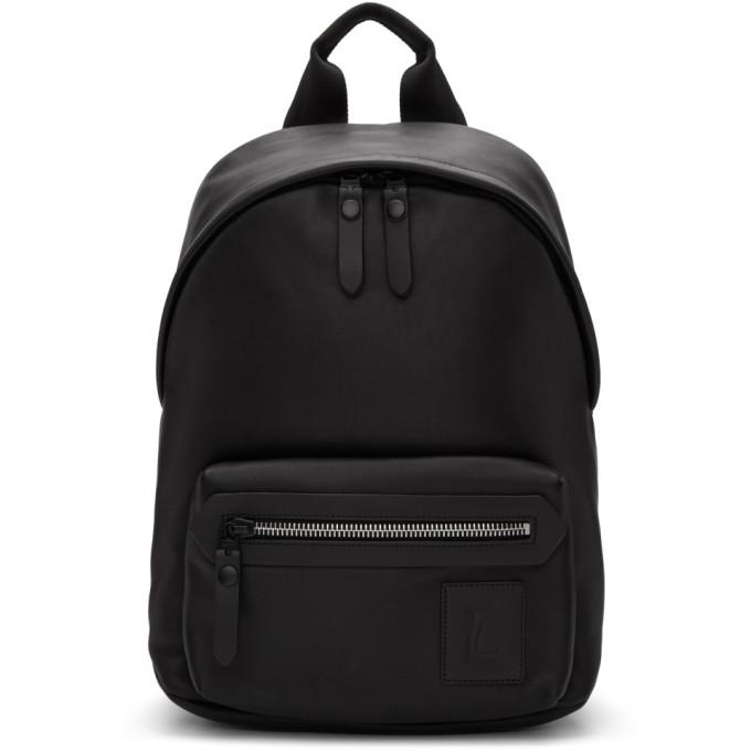 Lanvin Black Logo Patch Backpack