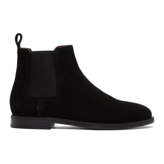 Lanvin Black Suede Chelsea Boots