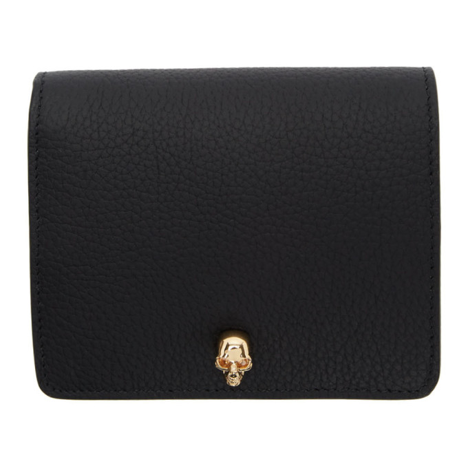 Alexander McQueen Black Skull Bifold Wallet