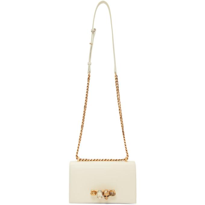 Alexander McQueen Off-White Jewelled Satchel Bag