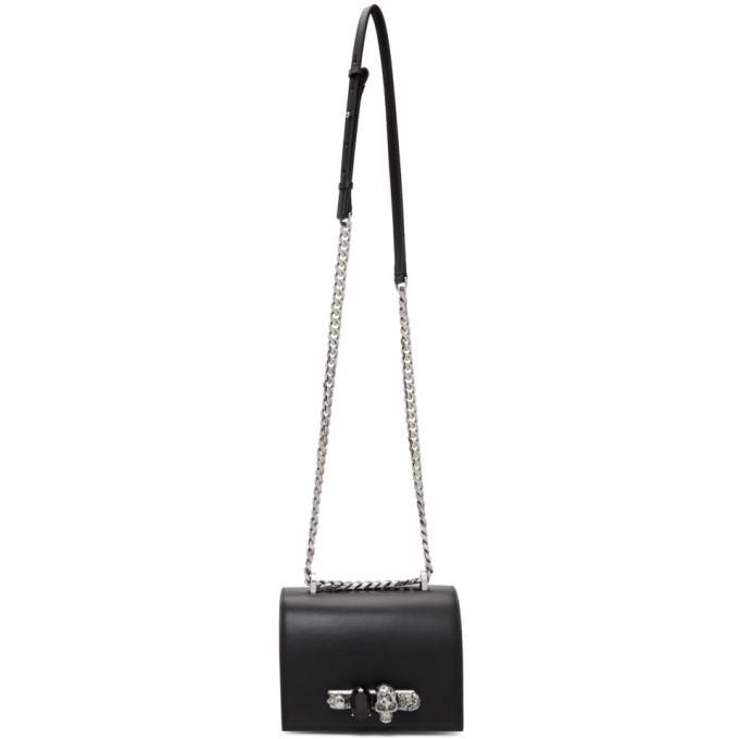Alexander McQueen Black Small Jewelled Satchel Bag