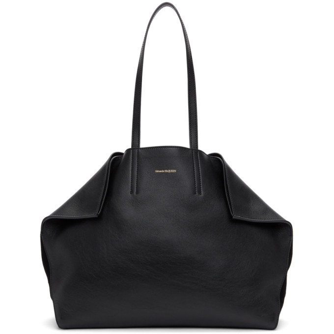 Image of Alexander McQueen Black Butterfly Tote