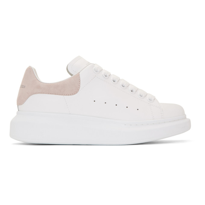 Alexander McQueen White & Pink Oversized Sneakers
