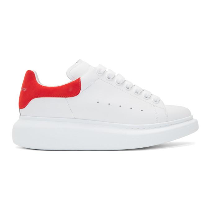 Alexander McQueen White & Red Oversized Sneakers