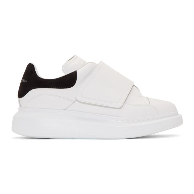 Alexander McQueen White & Black Flap Tab Oversized Sneakers