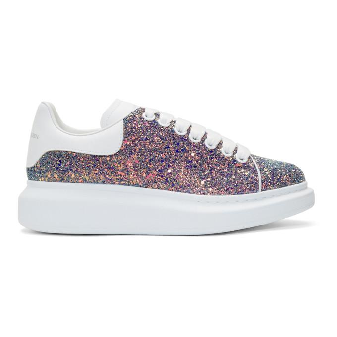 Alexander McQueen Multicolor Glitter Oversized Sneakers