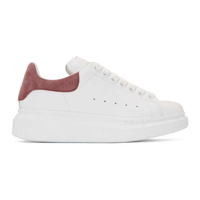 Alexander McQueen SSENSE Exclusive White & Pink Oversized Sneakers