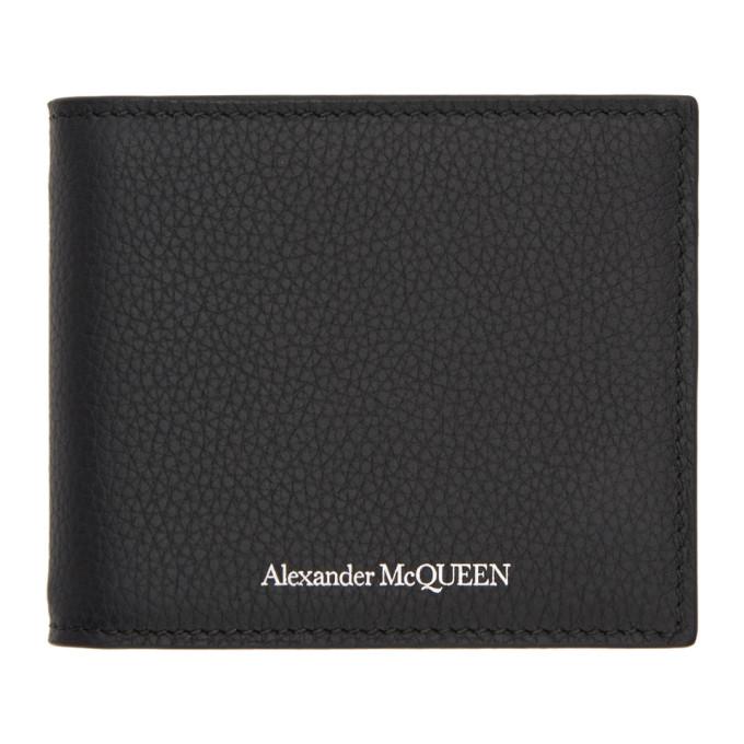 Alexander McQueen Black Money Clip Bifold Wallet