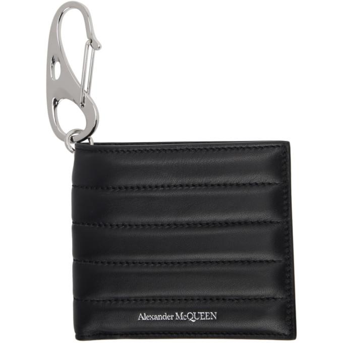 Alexander McQueen Black Padded Billfold Wallet