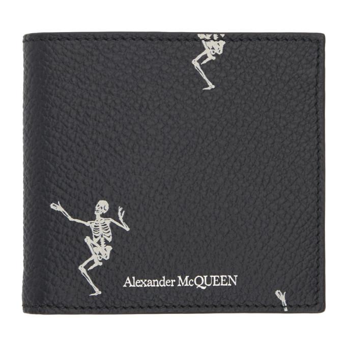 Alexander McQueen Black Dancing Skeleton Wallet