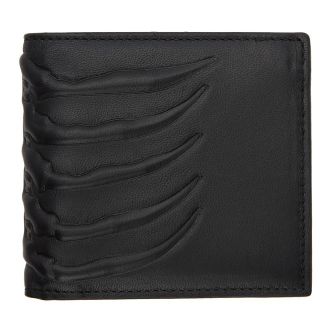 Alexander McQueen Black Ribcage Bifold Wallet
