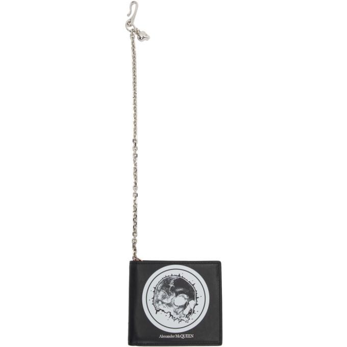 Alexander McQueen Black Skull Chain Wallet