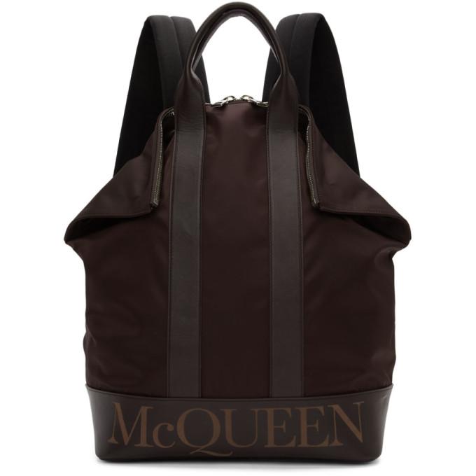 Alexander McQueen Burgundy De Manta Backpack