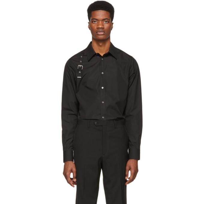 Alexander McQueen ブラック ハーネス シャツ