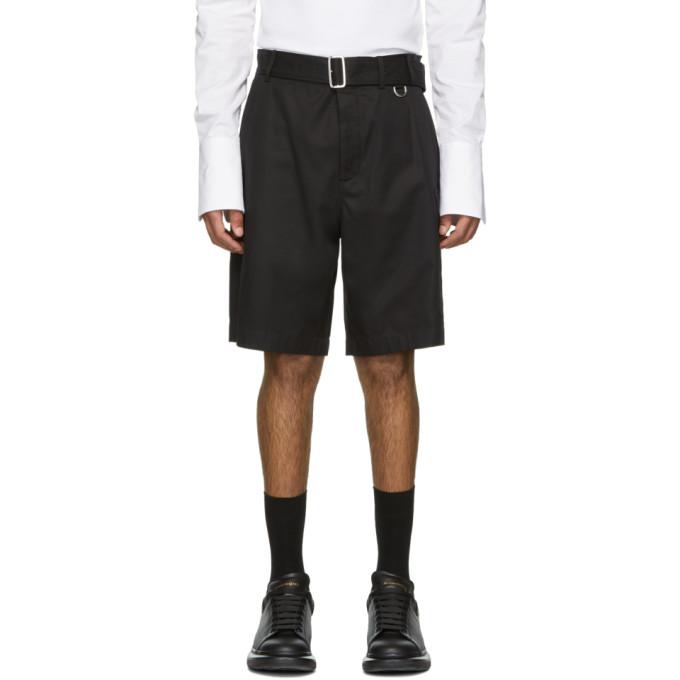Image of Alexander McQueen Black Belted Shorts