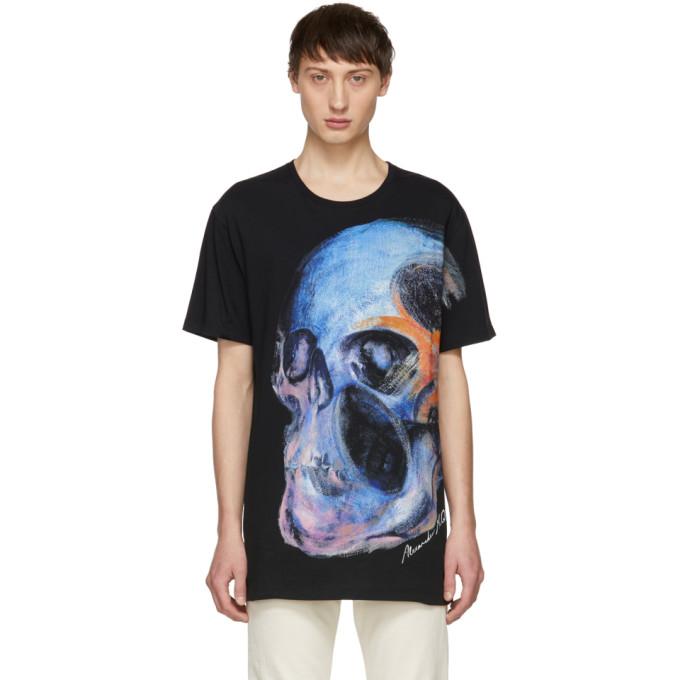 Image of Alexander McQueen Black Big Skull T-Shirt