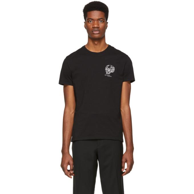 52f21430 Alexander Mcqueen Black Skull T-Shirt In 0901 Bk/Mix | ModeSens