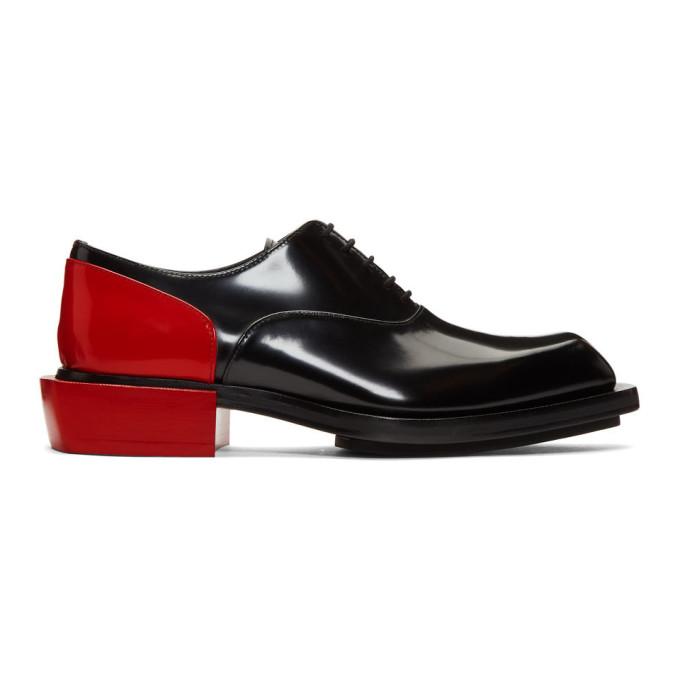 Alexander McQueen Black & Red Leather Derbys