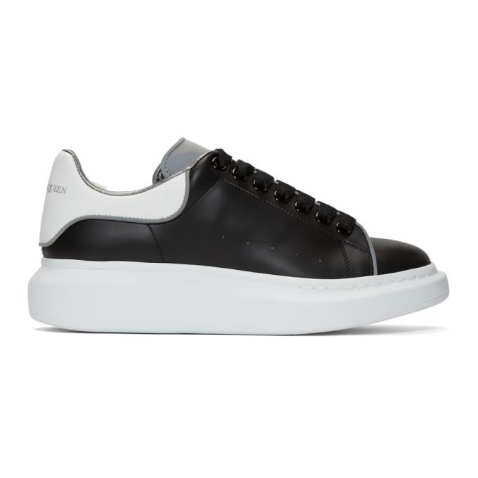 ALEXANDER MCQUEEN | Alexander McQueen Black And White Reflective Oversized Sneakers | Goxip